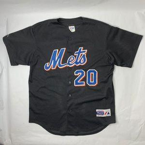 VTG Majestic New York Mets #20 Mesh Jersey